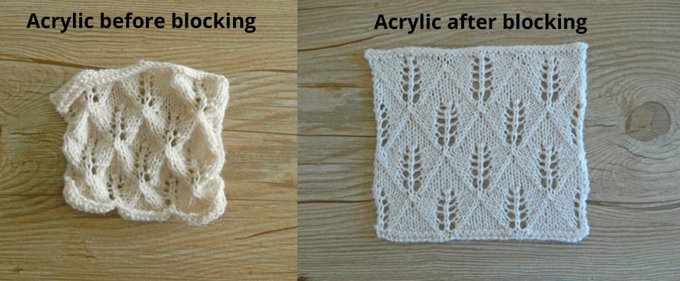 acrylic blocking knitting