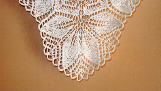 blocking knit lace shawl
