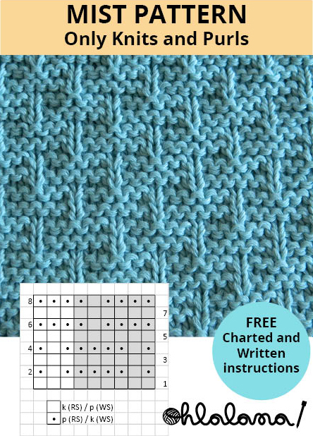 mist knitting pattern mist stitch pattern ohlalana