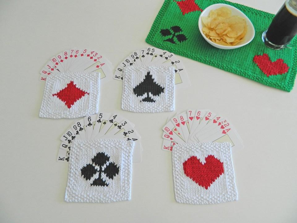 poker coasters pattern ohlalana poker free knitting pattern