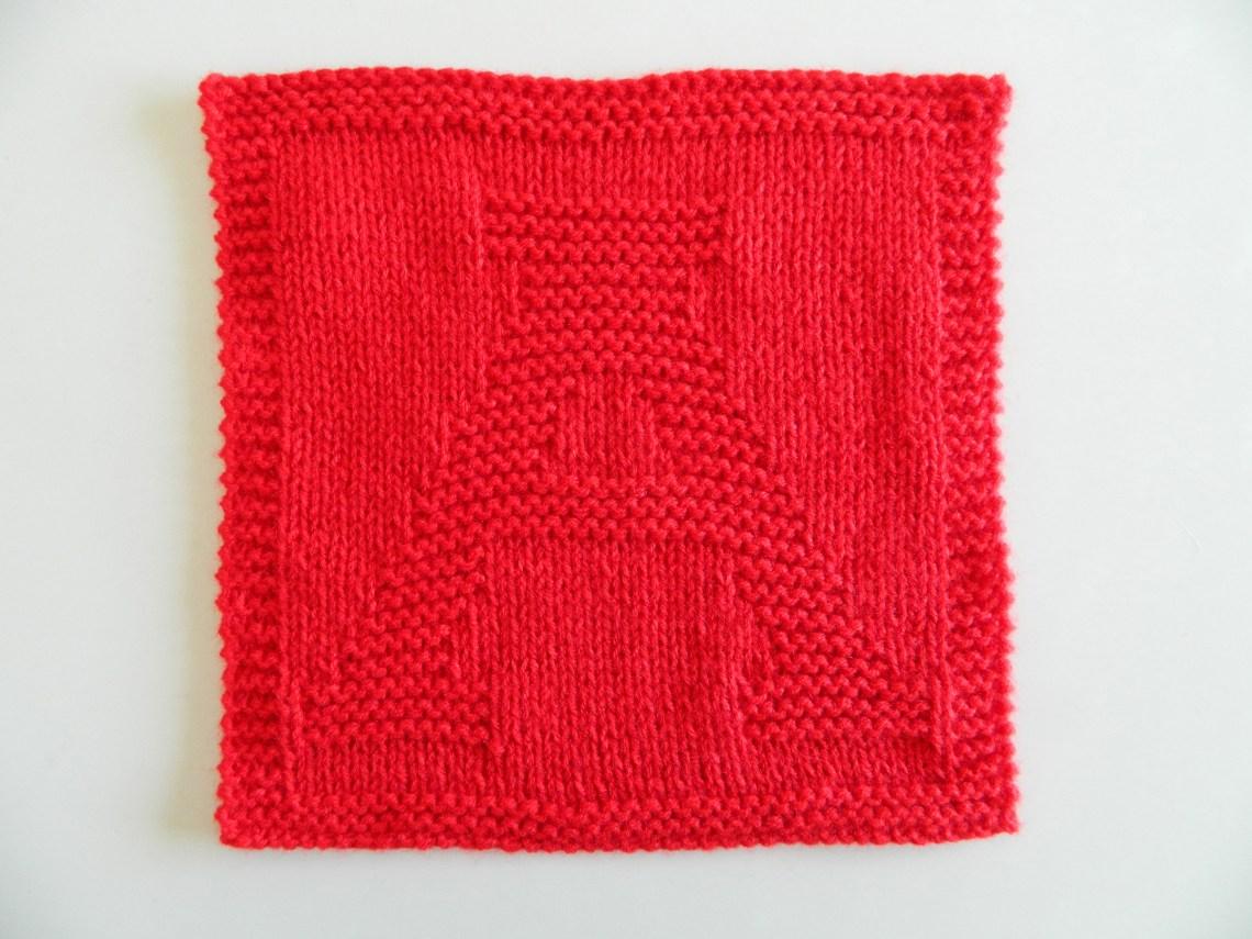 ALPHABET DISHCLOTH: A - OhLaLana! - Oh La Lana! Knitting Blog