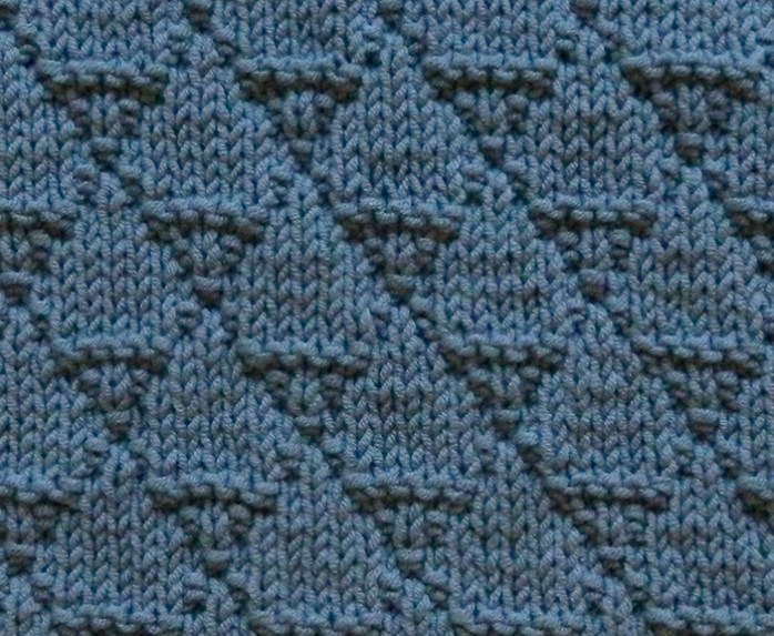 DRAGON SCALES stitch knitting pattern 52 SQUARE PICKUP knitted blanket OhLaLana dishcloth free pattern