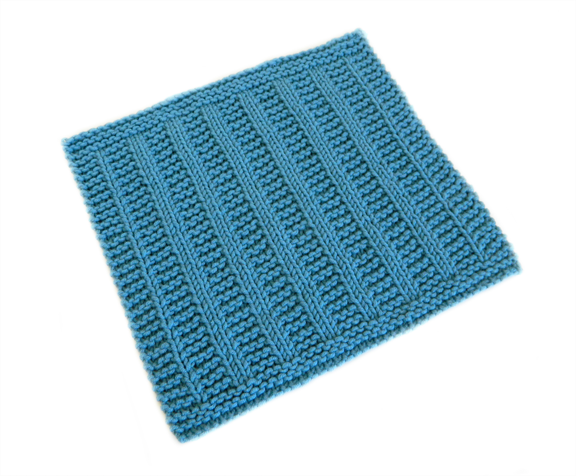 LINES stitch knitting pattern 52 SQUARE PICKUP knitted blanket LINES knitting pattern OhLaLana dishcloth free pattern
