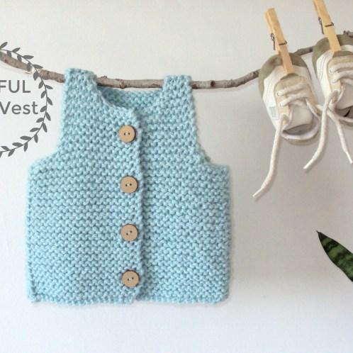 traful easy vest knitting pattern, baby vest pattern, ohlalana