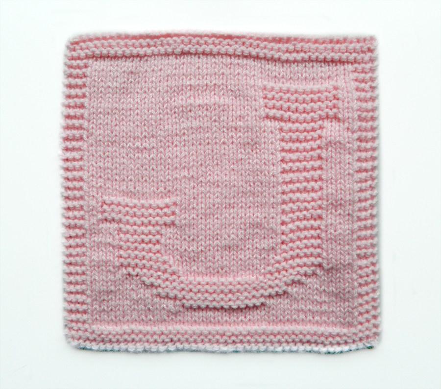 J dishcloth pattern alphabet dishcloth knitting pattern ohlalana J letter knitting pattern