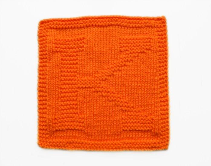 K dishcloth pattern alphabet dishcloth knitting pattern ohlalana K letter knitting pattern
