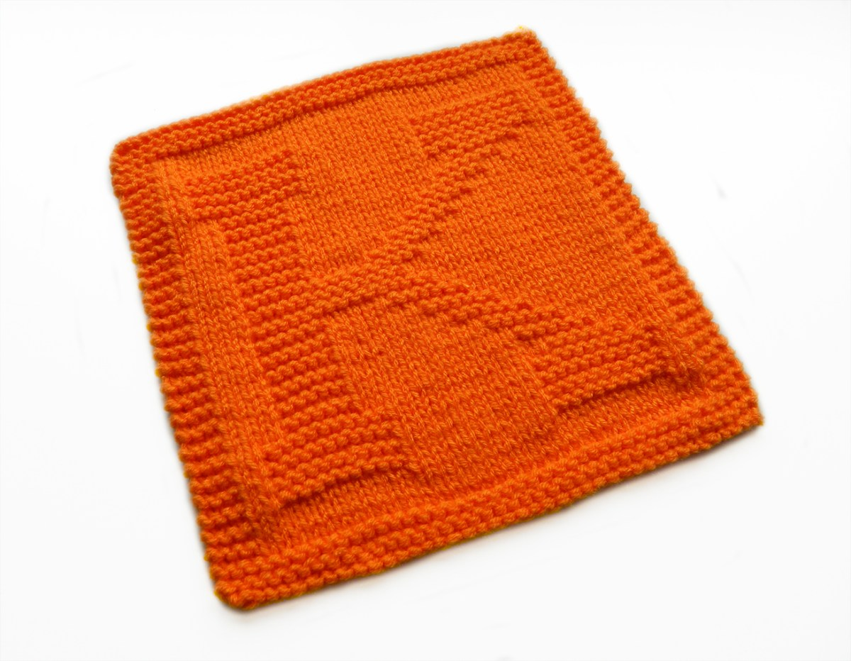ALPHABET DISHCLOTH: K