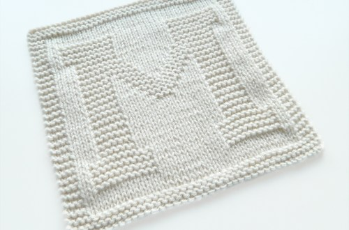M dishcloth pattern alphabet dishcloth knitting pattern ohlalana M letter knitting pattern