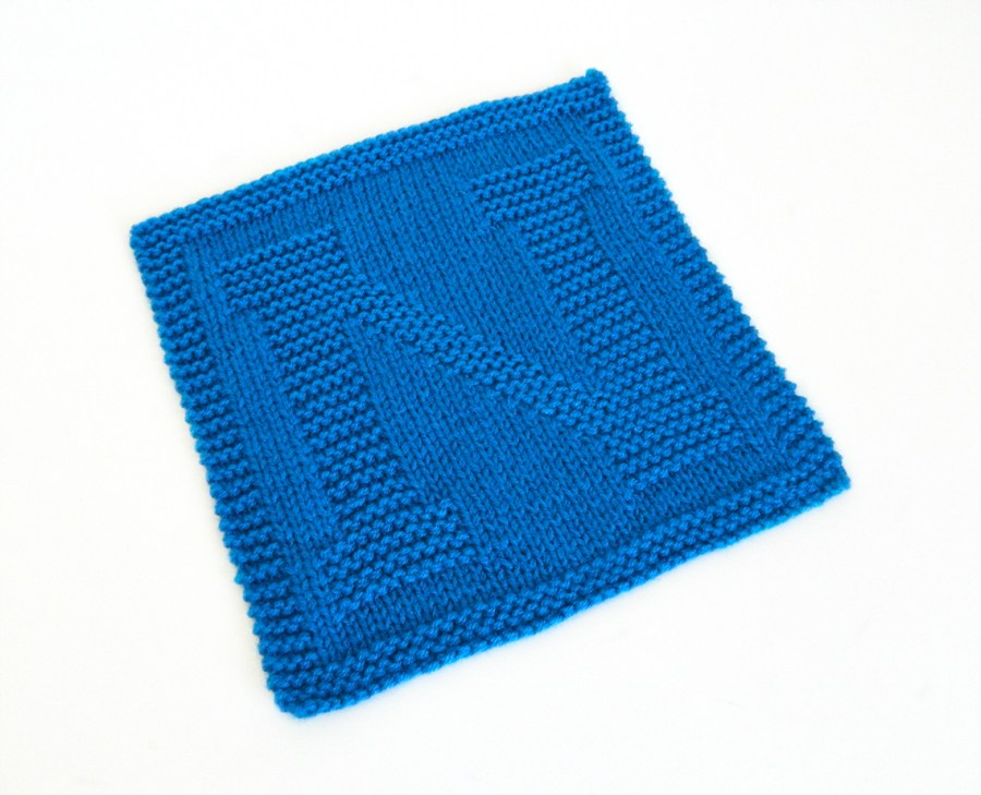 N dishcloth pattern alphabet dishcloth knitting pattern ohlalana N letter knitting pattern