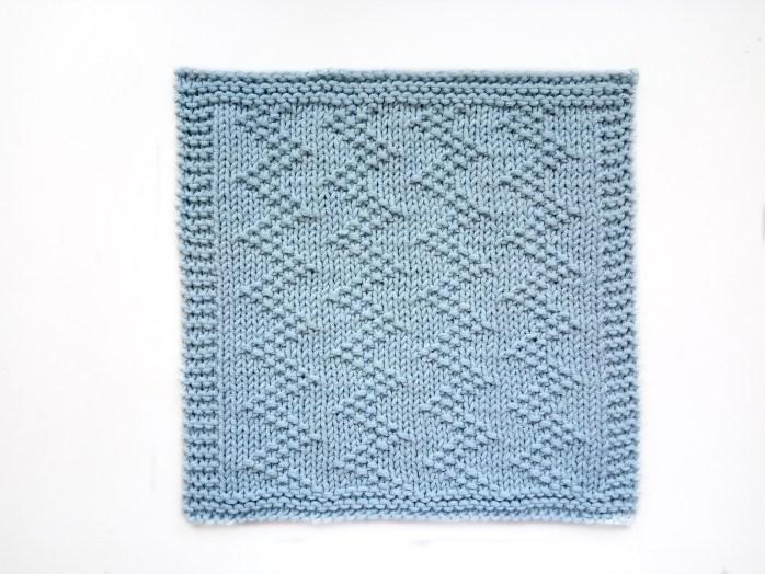 ZIG ZAG stitch knitting pattern 52 SQUARE PICKUP knitted blanket ZIG ZAG knitting pattern OhLaLana dishcloth free pattern