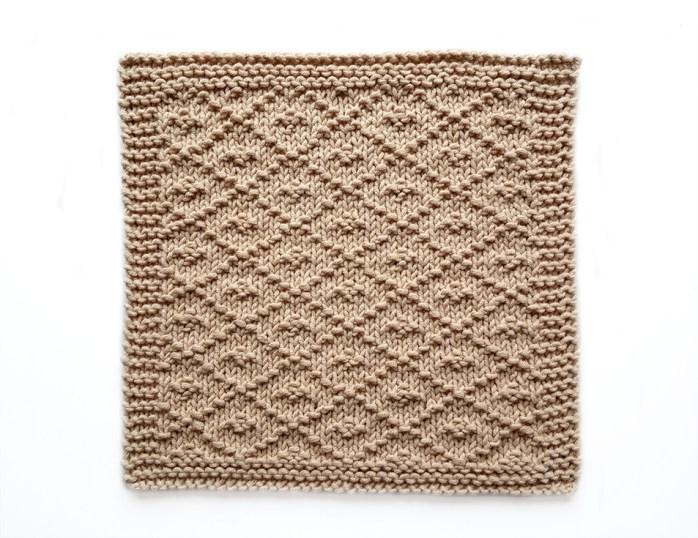 PAMPA stitch knitting pattern 52 SQUARE PICKUP knitted blanket PAMPA knitting pattern OhLaLana dishcloth free pattern