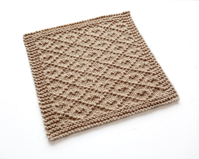 PAMPA stitch knitting pattern 52 SQUARE PICKUP knitted blanket PAMPA knitting pattern OhLaLana dishcloth free pattern