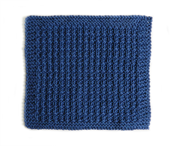 BROKEN RIB stitch knitting pattern 52 SQUARE PICKUP knitted blanket BROKEN RIB knitting pattern OhLaLana dishcloth free pattern
