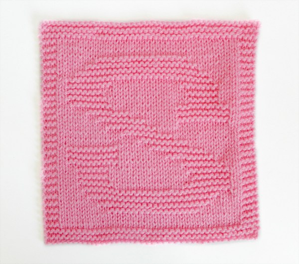 S dishcloth pattern alphabet dishcloth knitting pattern ohlalana S letter knitting pattern