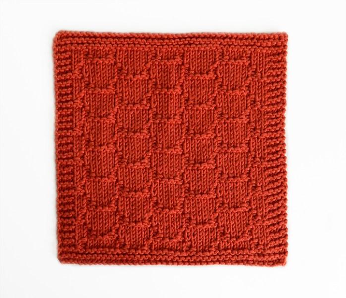 SPANISH ROOF TILES stitch knitting pattern 52 SQUARE PICKUP knitted blanket SPANISH ROOF TILES knitting pattern OhLaLana dishcloth free pattern