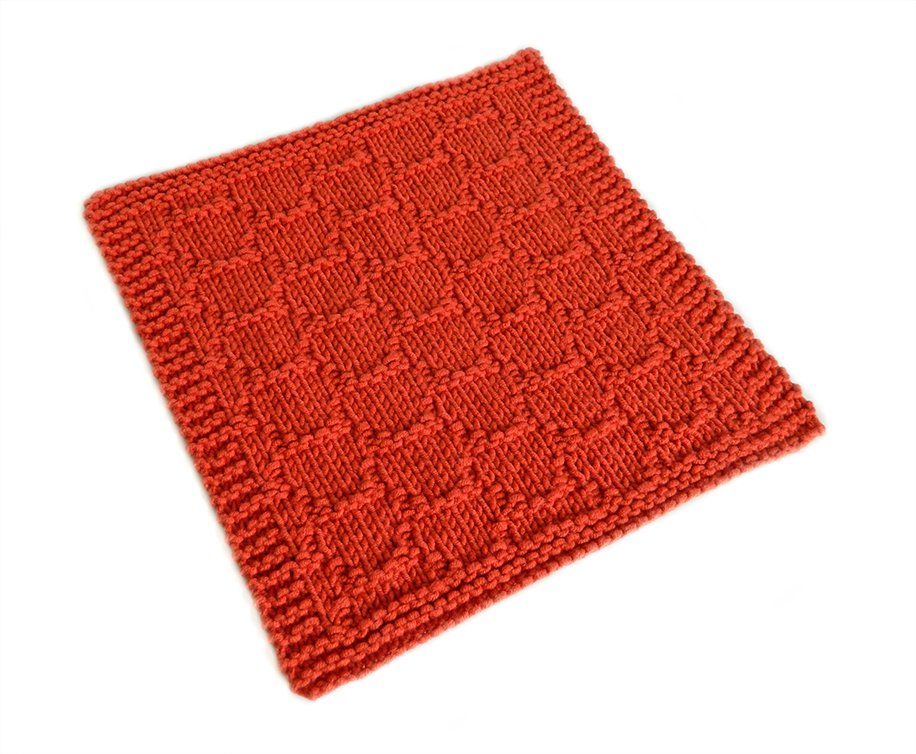 SPANISH ROOF TILES stitch knitting pattern 52 SQUARE PICKUP knitted blanket SPANISH ROOF TILES knitting pattern OhLaLana dishcloth free pattern