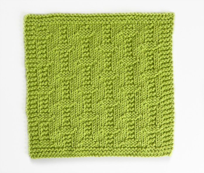 UNNAMED stitch knitting pattern 52 SQUARE PICKUP knitted blanket UNNAMED knitting pattern OhLaLana dishcloth free pattern