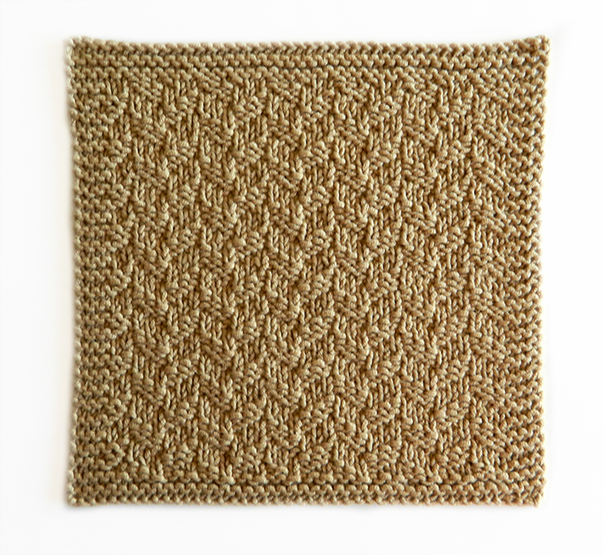 LITTLE HERRINGBONE stitch knitting pattern 52 SQUARE PICKUP knitted blanket LITTLE HERRINGBONE knitting pattern OhLaLana dishcloth free pattern