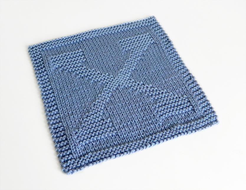X dishcloth pattern alphabet dishcloth knitting pattern ohlalana X letter knitting pattern