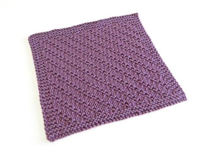 SMALL GARTER DIAGONAL stitch knitting pattern 52 SQUARE PICKUP knitted blanket SMALL GARTER DIAGONAL knitting pattern OhLaLana dishcloth free pattern