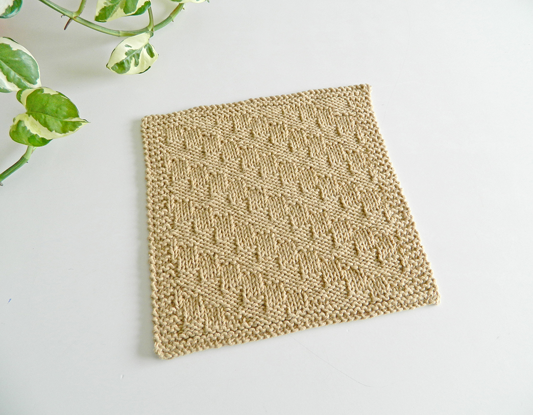 STEP BY STEP stitch knitting pattern 52 SQUARE PICKUP knitted blanket STEP BY STEP knitting pattern OhLaLana dishcloth free pattern