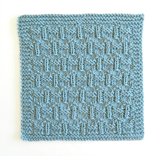 FENCES stitch knitting pattern 52 SQUARE PICKUP knitted blanket FENCES knitting pattern OhLaLana dishcloth free pattern