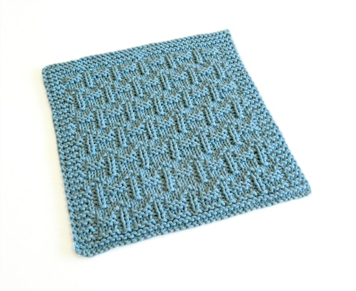 FENCES stitch knitting pattern 52 SQUARE PICKUP knitted blanket FENCES knitting pattern OhLaLana dishcloth free pattern