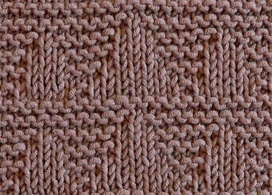 MOUNTAINS stitch knitting pattern 52 SQUARE PICKUP knitted blanket MOUNTAINS knitting pattern OhLaLana dishcloth free pattern