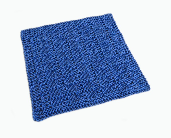 GRID stitch knitting pattern 52 SQUARE PICKUP knitted blanket GRID knitting pattern OhLaLana dishcloth free pattern