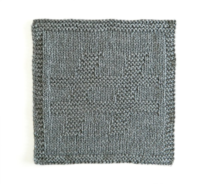 HASH dishcloth pattern HASH knitting pattern ohlalana HASH block