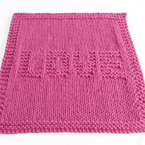 VALENTINES dishcloth, VALENTINES stitch knitting pattern 52 SQUARE PICKUP knitted blanket, VALENTINES knitting pattern, LOVE knitting pattern, OhLaLana dishcloth free pattern