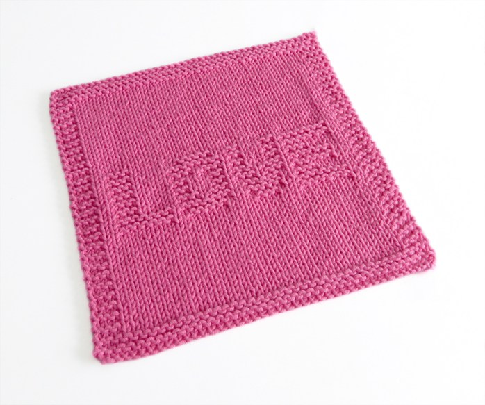 LOVE knitting pattern, ohlalana, knitting for beginners, VALENTINES knitting