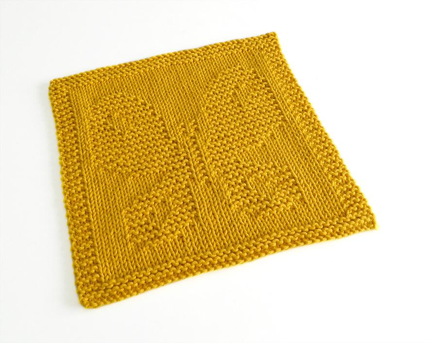 BUTTERFLY dishcloth knitting pattern Beginner MKAL 2020 ...