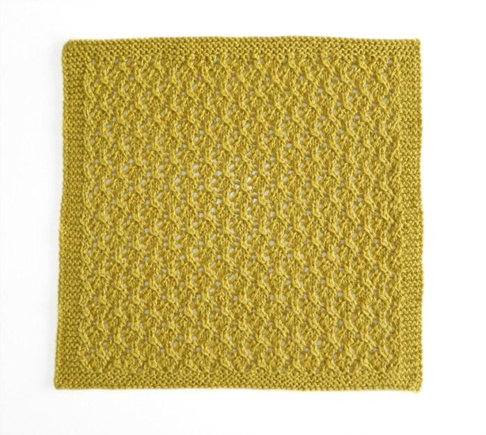 LACE N°2 pattern, lace dishcloth, lace knitting pattern, lace free pattern