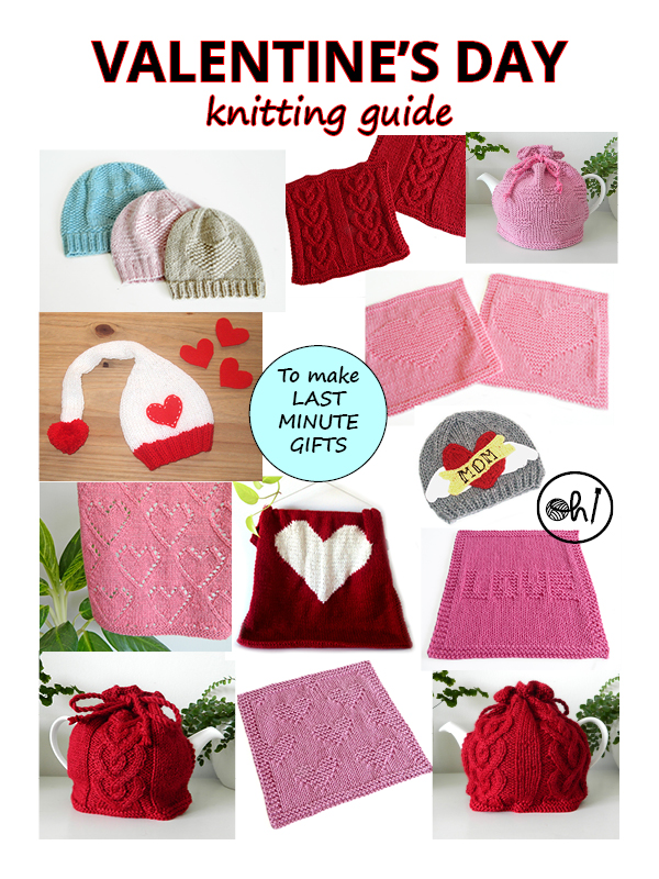 VALENTINES knitting, valentines day knitting, VALENTINES dishcloth, valentines pattern, valentines knitting pattern, HEARTS knitting pattern, OhLaLana free pattern