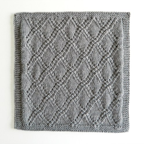 LACE N°4 pattern, lace dishcloth, lace knitting pattern, lace free pattern
