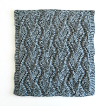 LACE N°6 pattern, lace dishcloth, lace knitting pattern, lace free pattern