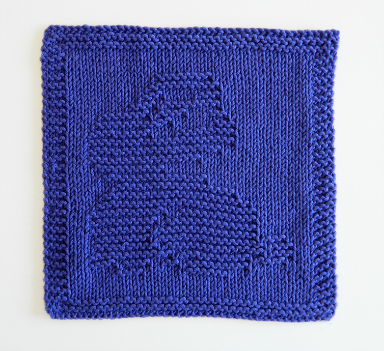 BUNNY dishcloth, BUNNY pattern, BEGINNER BLANKET MKAL 2020, BUNNY dishcloth pattern, RABBIT knitting pattern, OhLaLana dishcloth free pattern