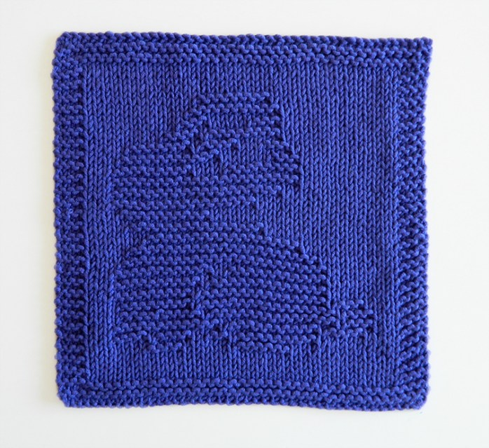 BUNNY dishcloth, BUNNY pattern, BEGINNER BLANKET MKAL 2020, BUNNY dishcloth pattern, RABBIT knitting pattern, OhLaLana dishcloth free pattern