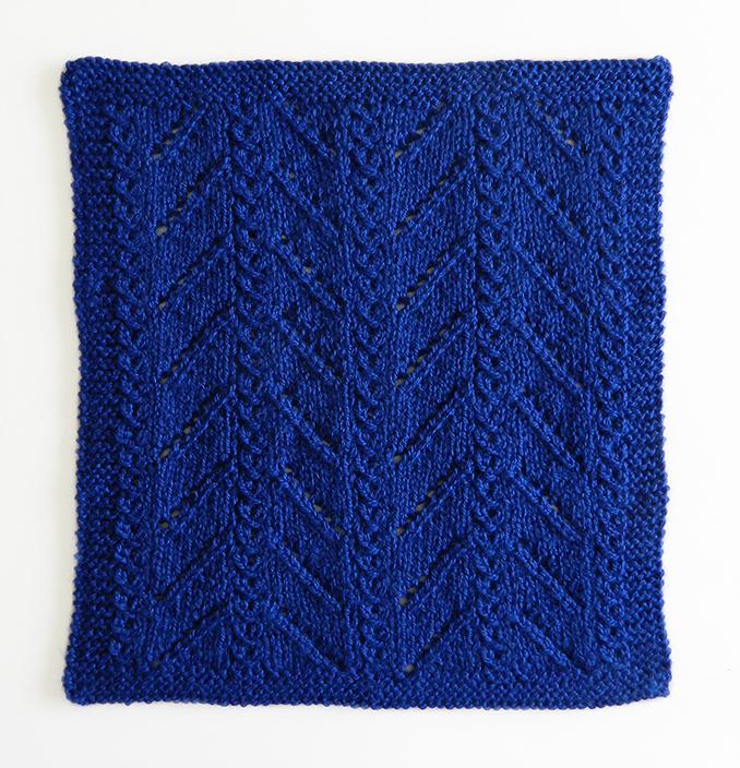 LACE N°13 pattern, lace dishcloth, lace knitting pattern, lace free pattern