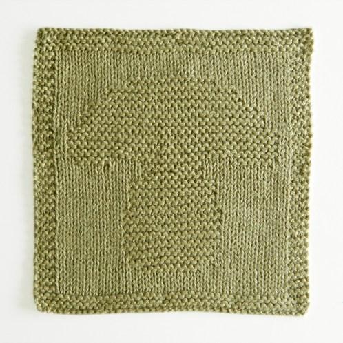MUSHROOM dishcloth, MUSHROOM pattern, BEGINNER BLANKET MKAL 2020, MUSHROOM knitting pattern, CHAMPIGNON knitting pattern, OhLaLana dishcloth free pattern
