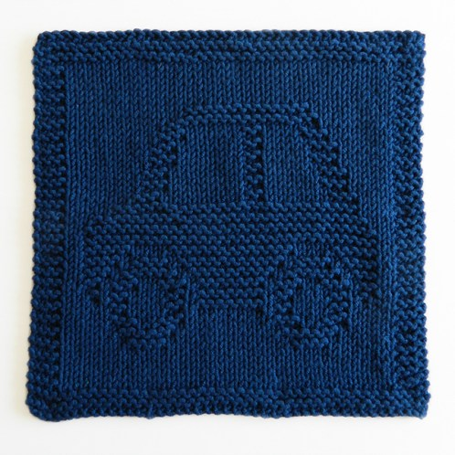 CAR dishcloth, CAR pattern, BEGINNER BLANKET MKAL 2020, AUTOMOBILE dishcloth pattern, CAR knitting pattern, OhLaLana dishcloth free pattern