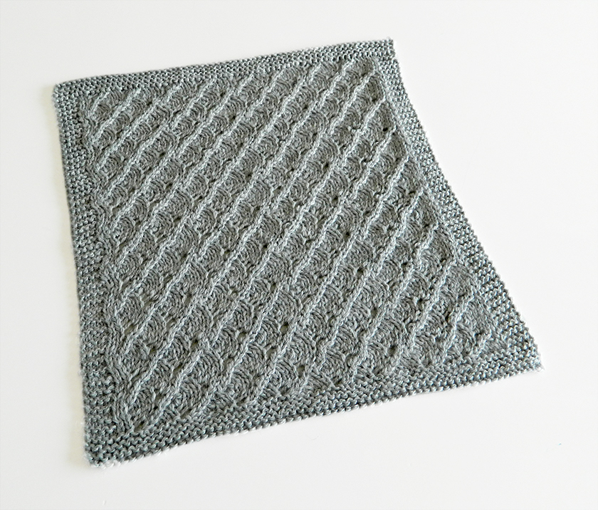 LACE N°14 pattern, lace dishcloth, lace knitting pattern, lace free pattern
