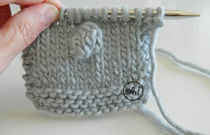 HOW to knit popcorn stitch | big POPCORNS knitting tutorial