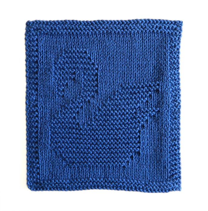 SWAN knitting pattern, SWAN dishcloth, SWAN pattern, BEGINNER BLANKET MKAL 2020, OhLaLana dishcloth free pattern