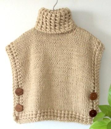 free vest knitting pattern, free poncho knitting pattern, bariloche poncho vest, bariloche pullover, free knitting pattern, children vest, children pullover, ohlalana