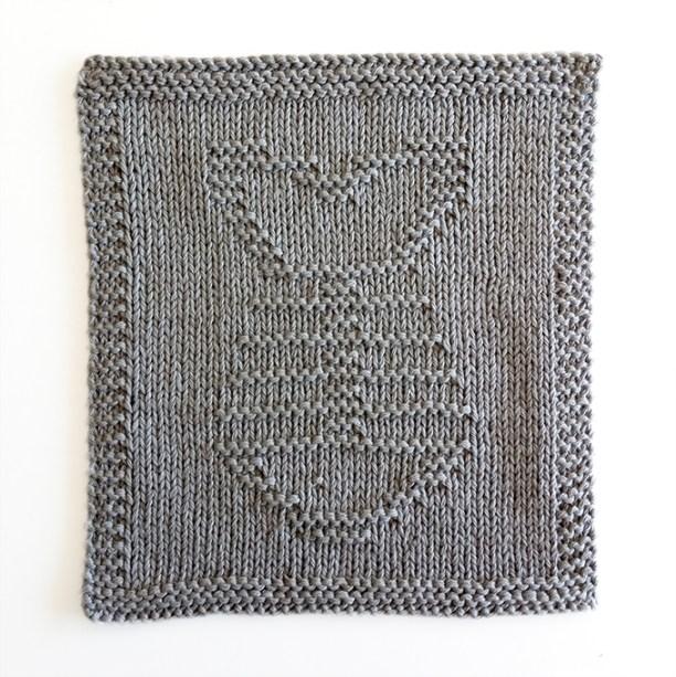 FISH BONES knitting pattern, fish pattern, FISH BONES dishcloth knitting pattern, OhLaLana dishcloth free pattern