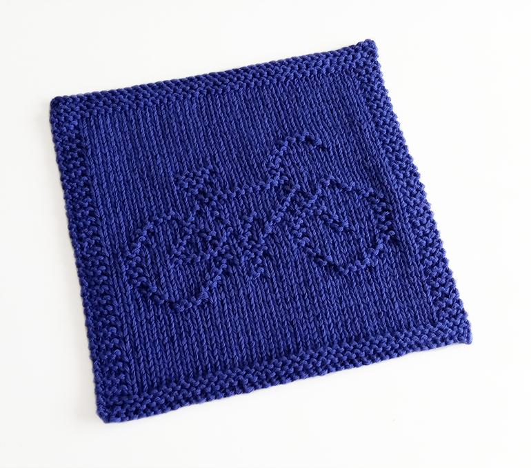 BICYCLE dishcloth, BICYCLE knitting pattern, BICYCLE pattern, transports dishcloth, BEGINNER BLANKET MKAL 2020, OhLaLana dishcloth free pattern