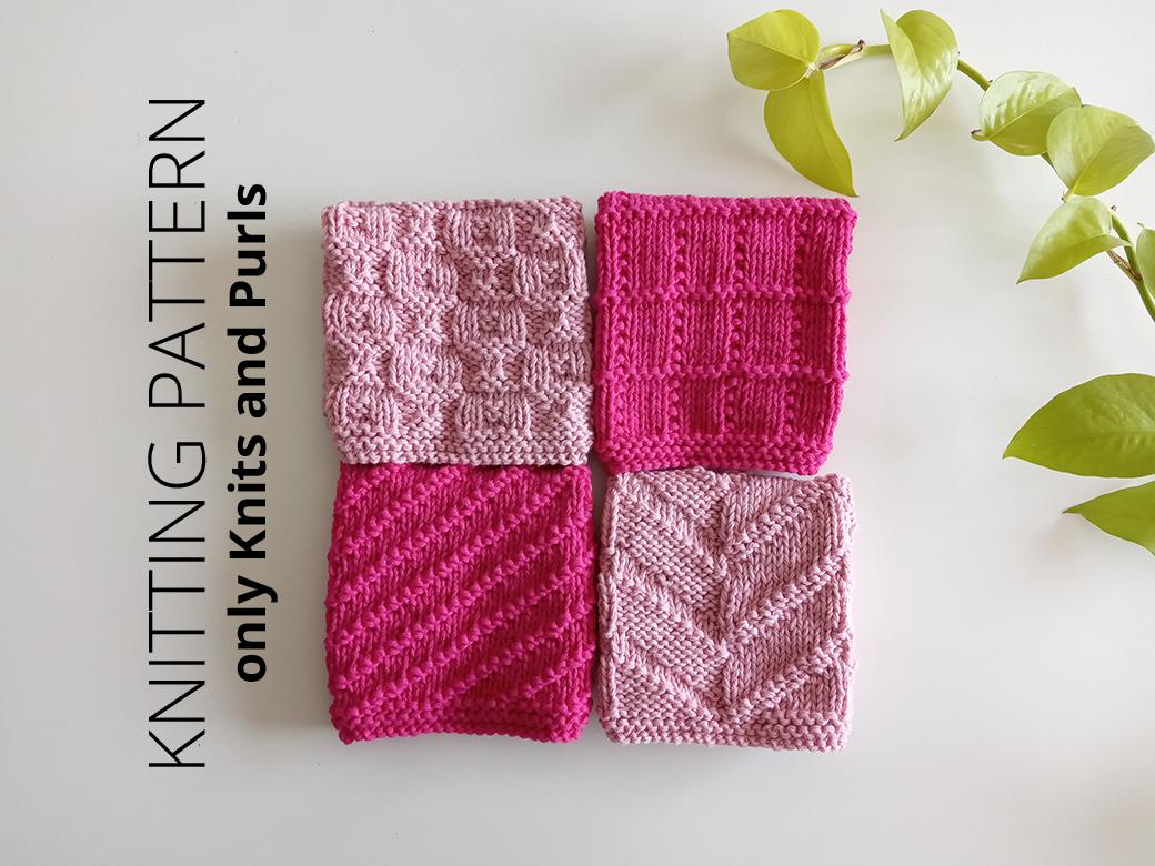 DISHCLOTH SET FREE PATTERN, ohlalana, discloth free pattern, free knitting patterns for dishcloths