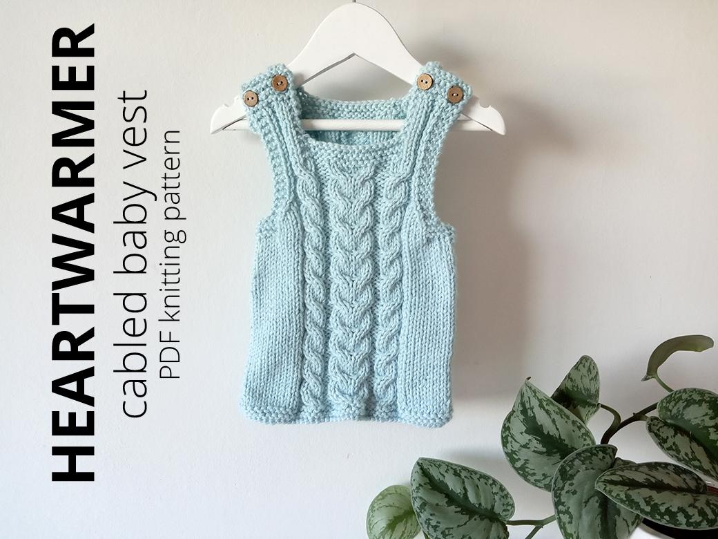 HEARTWARMER baby vest knitting pattern, ohlalana